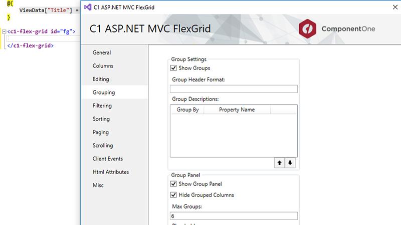 ComponentOne Studio ASP NET MVC Edition - MVC UI Controls